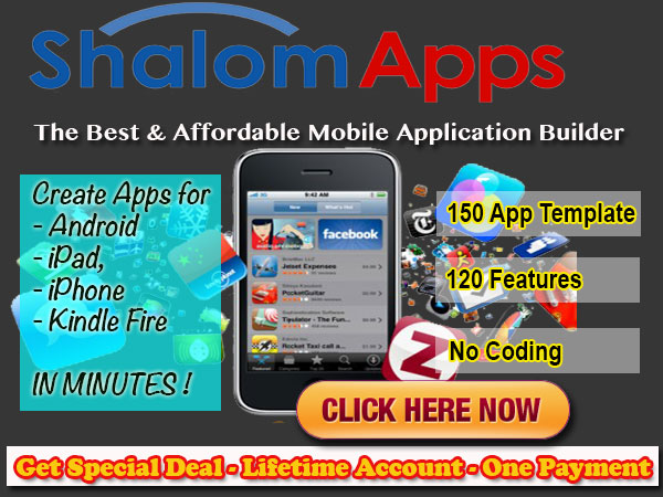 Special deal on ShalomApps Builder